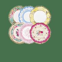 Assiette Papier Fleurs multicouleur x12
