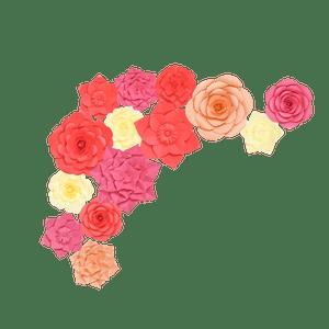 Kit Fleurs En Papier Tropiques x14