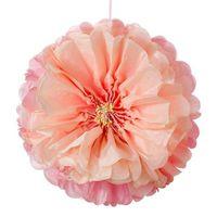Fleur En Papier rose 30 à 40 cm x3