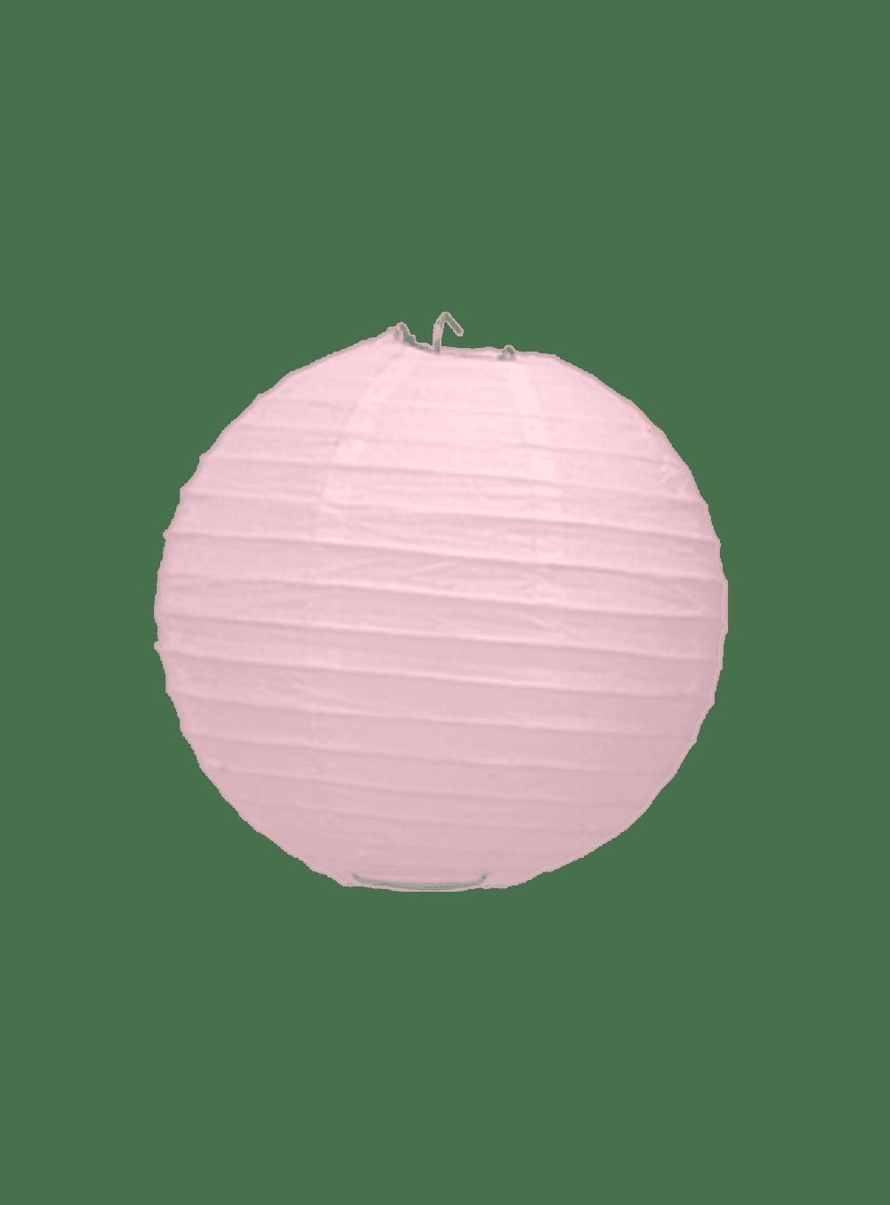 Boule Papier Rose Pale 10 cm x10