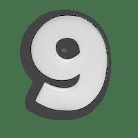 Chiffre 9 en Polystyrène 20cm