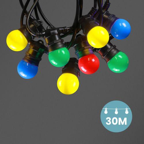 Kit Guirlande Guinguette 30m IP 65 Multicolore