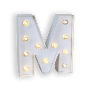Lettre Lumineuse M