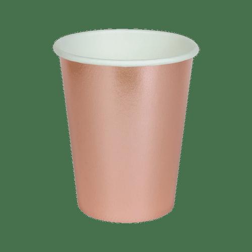 Gobelet Carton Rose Gold x8