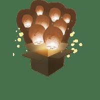 Balloon Chocolat x3