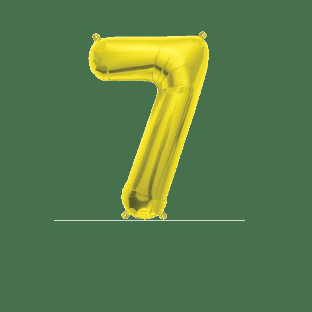 Ballon Chiffre 7 Or 35 cm