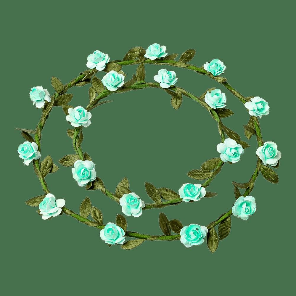 Marque Place mini roses Vert d'eau x2