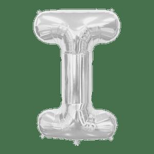 Ballon Lettre I Argent 90 cm