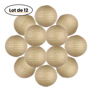 Lot de 12 Boules Japonaises Sable 30 cm