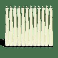 Pack de 12 chandelles Ivoire 2,3x25cm