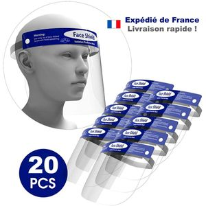 Lot de 20 visieres de protection transparente 32x22