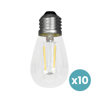 Ampoule Filaments LED Verre Transparent x10