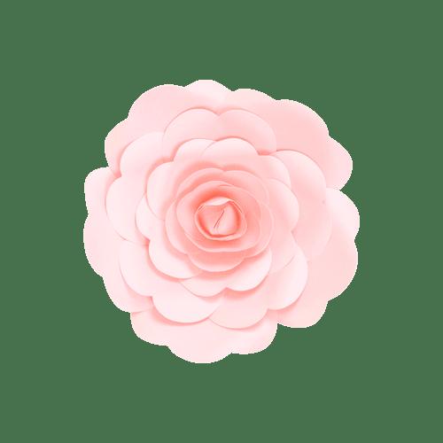 Fleur En Papier Rose Rose Pâle 20 cm