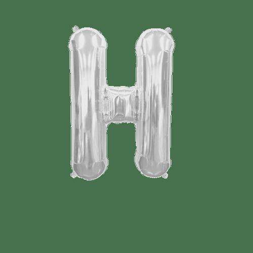 Ballon Lettre H Argent 35 cm