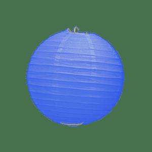 Boule Papier Bleu Roi 10 cm x3