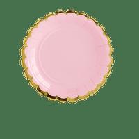 Assiette Carton Rose Basic x6