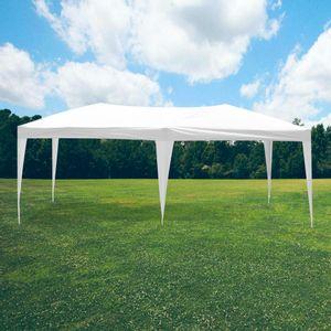 Tente Pliable 3x6m imperméable 160 g/m2 Blanc