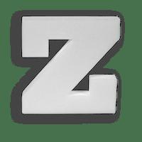 Lettre Z en Polystyrène 20cm