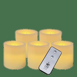 Pack Pilier LED standard ivoire 7x7,5cm avec Télécommande