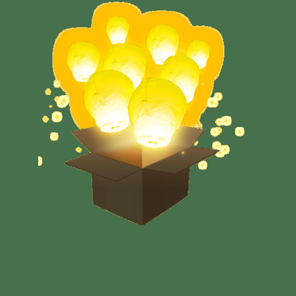 Balloon Jaune x3