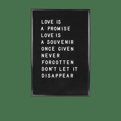 Letter Board 46 cm Noir