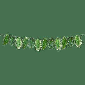 Guirlande Papier Feuilles Tropicales