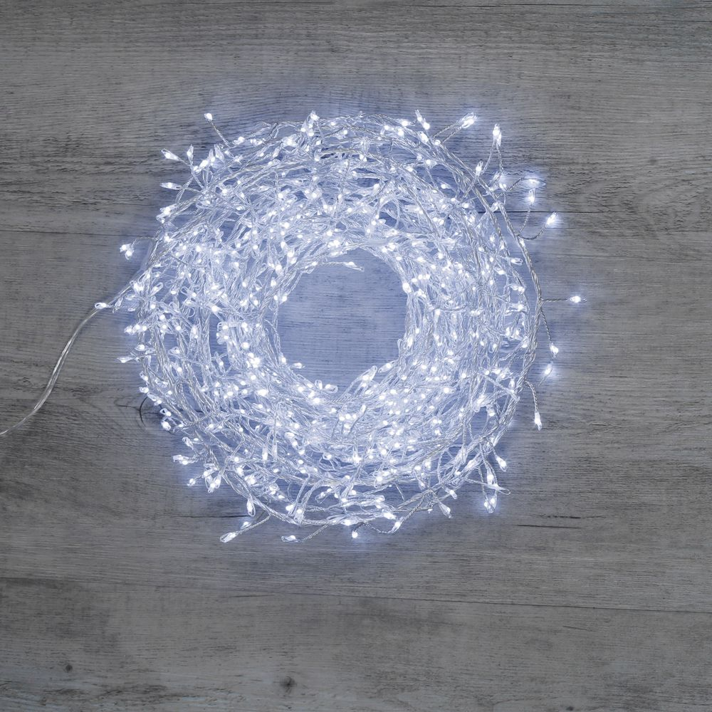 Cluster 720 Micro-Led Argent Blanc Froid 4m80