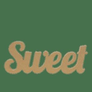 Lettres SWEET en Bois