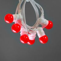 Guirlande Lumineuse Guinguette Rouge 10 m Cable Blanc