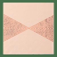 Serviette Papier Triangle Peche x20