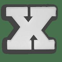 Lettre X en Polystyrène 20cm