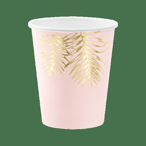 Gobelet Carton Rose et Doré