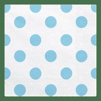 Serviette Papier Pois Bleus x20