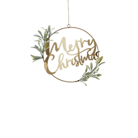 Couronne Merry Christmas Or 30 cm