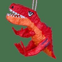Pinata Dinosaure T-Rex Rouge et Orange 64 cm
