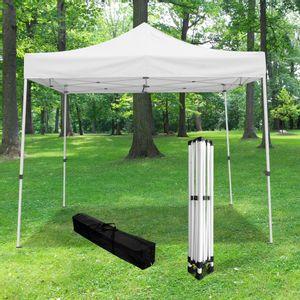Tonnelle Pliante 3x3m imperméable 320 g/m2 Blanche