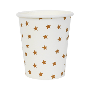 Gobelets Étoiles Or x8