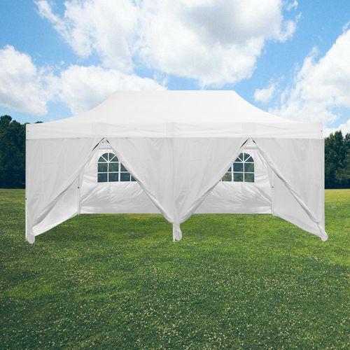 Tente Pliable 3x6m imperméable 320 g/m2 Blanche + 6 Parois