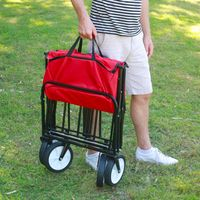 Chariot Pliable Multifonction Rouge