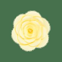 Fleur En Papier Rose Ancienne Jaune Pâle 20 cm