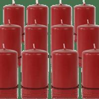 Pack de 12 bougies votives Carmin 5x7cm