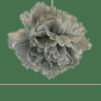 Decoration Pour Soirée Mariage & Fête, Anniversaire, Fête Pompons Gris 50Cm (Lot De 4 Pièces)