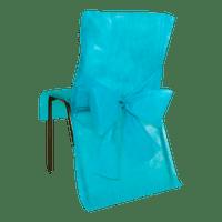 Housse de Chaise avec nœud Turquoise x10