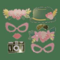 Photobooth  Carton Vert et Rose