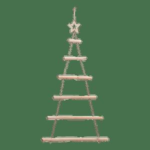 Sapin De Noel En Bois Naturel à suspendre 95 cm
