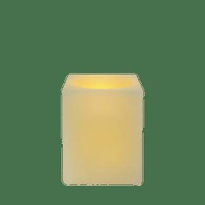 Bougie carrée LED Ivoire 8x8x10cm