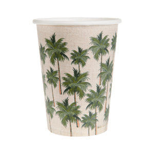 Gobelet Carton Tropical Jungle Vert x10