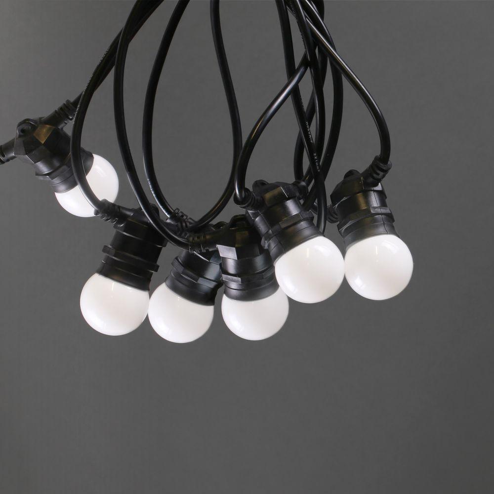 Guirlande Guinguette Blanche Ampoules Remplaçables 10 m