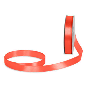Ruban Satin Orange Fluo 12mm x 25m