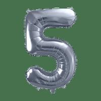 Ballon Chiffre 5 Argent 90 cm